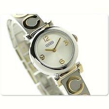 Coach Madison Series Ladies Monogram Bangle 2tone Swiss Quartz Watch 14501689