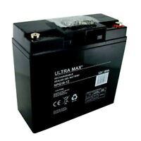 Lawn Mower Battery Ultra Max Gel 12v 18ah (replace 17ah 19ah 20ah 21ah 22ah)