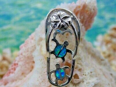 Pendants Beach and Sea Life Charms .925 Sterling Silver Blue Inlay Created Opal Crab Charm Pendant