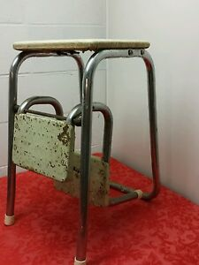 Attrayant Image Is Loading VINTAGE KITCHEN STEP STOOL Mid Century Chair Seat