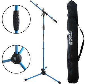 KEEPDRUM-MS106-BL-Mikrofonstaender-Blau-Stativ-mit-Galgen-Trage-Tasche-SB-03