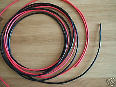 CUT LENGTH 2 Metres Red /& Black Equipment Wire 32 Strand 1.00mm