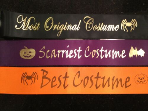 Child Halloween Pageant Sash CHOOSE YOUR WORDING