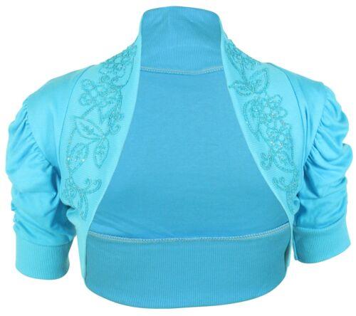 Basic T-Shirt in Übergröße Gestellte Pailletten Bolero Shrugs 36-54