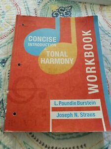 Concise Introduction to Tonal Harmony WORK BOOK Paperback ...