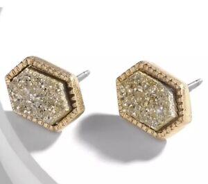 Gold-Drusy-Studs-Earrings-Kendra-Chloe-Design-by-Isabel-J-Scott