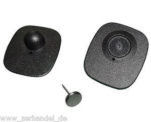 1000-RF-etiquettes-dures-8-2MHz-Mini-Square-noir-avec-Crochets-Sauvegarde-ER002