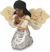 Elements In Faith Ebony Angel Figurine By Pavilion, 3-1/2-inch, Praying, New, Fr on sale