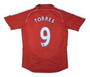 Liverpool 2007-08 Authentic Home Shirt TORRES #9 (eccellente) M SOCCER JERSEY