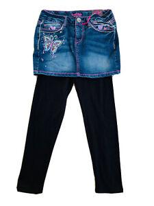 Freestyle-Revulation-Size-14-16-Denim-Jeans-Skirt-Wz-Black-Legging