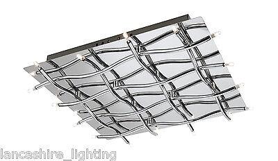 37985/11/10 Stylish Modern Polished Chrome Ceiling Flush Light 16x10w = 160w