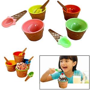 Dazzling-Toys-1-Dozen-Plastic-Waffle-Ice-Cream-Dish-Bowl-Ice-Cream-Cone-Spoons