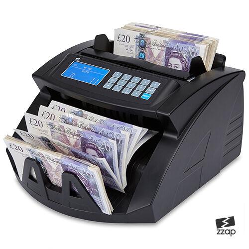 Bank notas TALONARIO Dinero Moneda Contador Count FALSO Detector Golpear Máquina