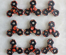 Wholesale Lot 10x Fidget Hand Tri Spinner Basketball Camouflage Camo Toy Kids