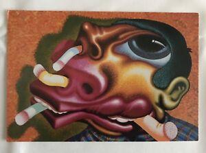 Carton vernissage Peter Saul Galerie 1991 Très Bon Etat