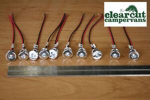Details About 10 X Campervan Single Led Spot Lights Motorhome Vw T4 T5 Lighting