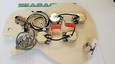 Premium Upgrade Pre-Wired Wiring Harness Kit with Bourns short Shafts for epi LP