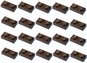LEGO marron foncé plaque 1x2 20 Pièces Nouveau!!!