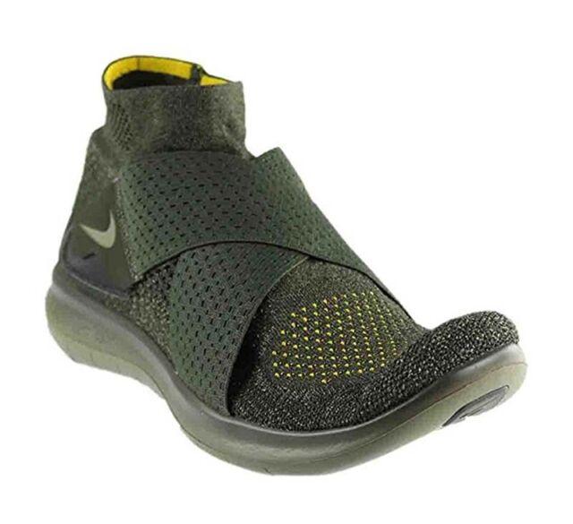 5b02784fee8e4 Nike RN Motion FK 2017 Flyknit Mens Running Shoes 11.5 Sequoia Green ...