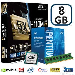 INTEL KABY LAKE G4560 1151 CPU 8GB DDR4 ASUS H110M-R MATX ...