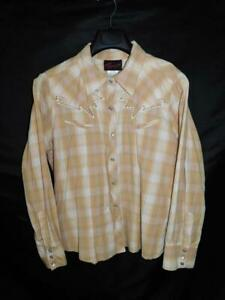 Torrid-Size-2-2X-Brown-Gold-Plaid-Western-Snap-Shirt-Long-Sleeve-Rockabilly-2XL