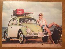 Tin Sign Vintage Coca-Cola VW Bug