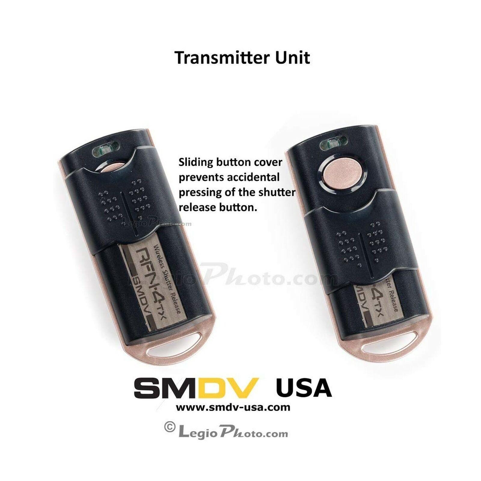 RFN-4s Wireless Remote Shutter Release for Nikon DSLR with MC30 Type Connection Nikon D200, D300, D300s, D500, D700, D800, D800E, D810, D1, D2, D3, D3x, D3s, D4, D5 Transmitter and Receiver Set