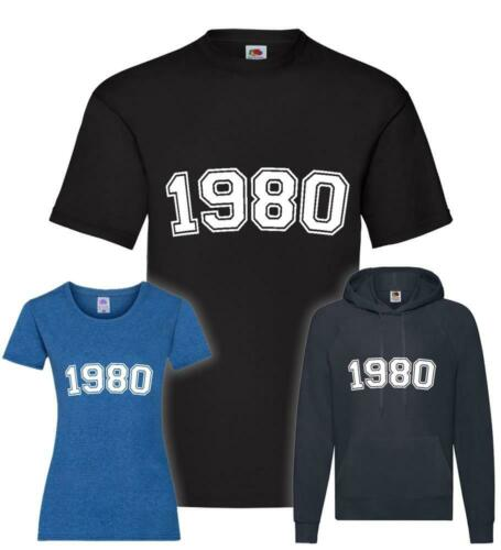 Hoodie 1980 T-Shirt Pullover