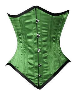 Heavy Duty  Double Steel Boned Waist Training Satin Underbust corset 20 + COLOR