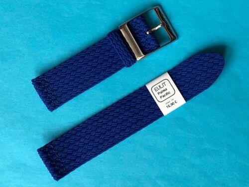Eulit Perlon Uhrenarmband  Modell Eulit Palma Pacific blau 22mm Band Uhrband