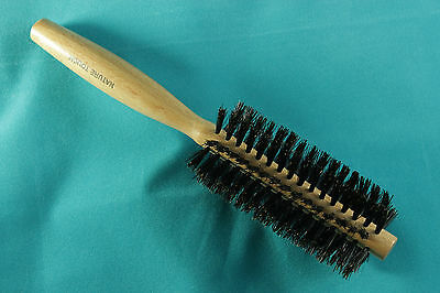 Nature Touch Brush Professional Small Round Styling Natural Bristle Hair Brush