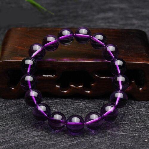8 mm cristal pierres Améthyste Bracelet Perles Rondes naturel reiki bijoux cadeau