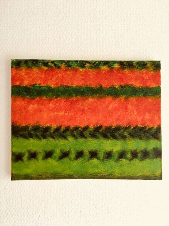 Akrylmaleri, Lisbeth Jensen , motiv: Abstrakt
