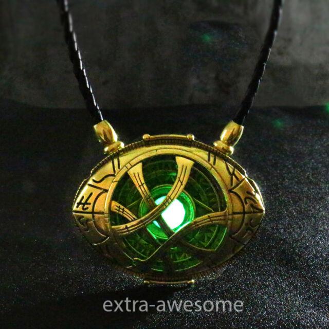 Retro 3D Hologram Glass Holographic Necklace Magic Strange Energy Chain Pendant