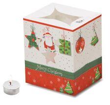 Santa Star Present Christmas Candle Bags - 5 Pack