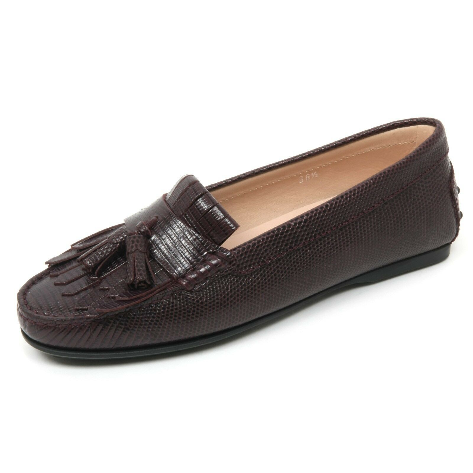 B9558 mocassino donna loafer TOD'S scarpa frangia nappine bordeaux loafer donna shoe woman c584b4