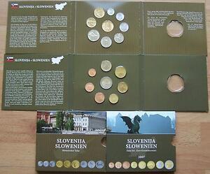 2 Kms Münzen Slowenien 2007 Euro Vor Euro Im Blister