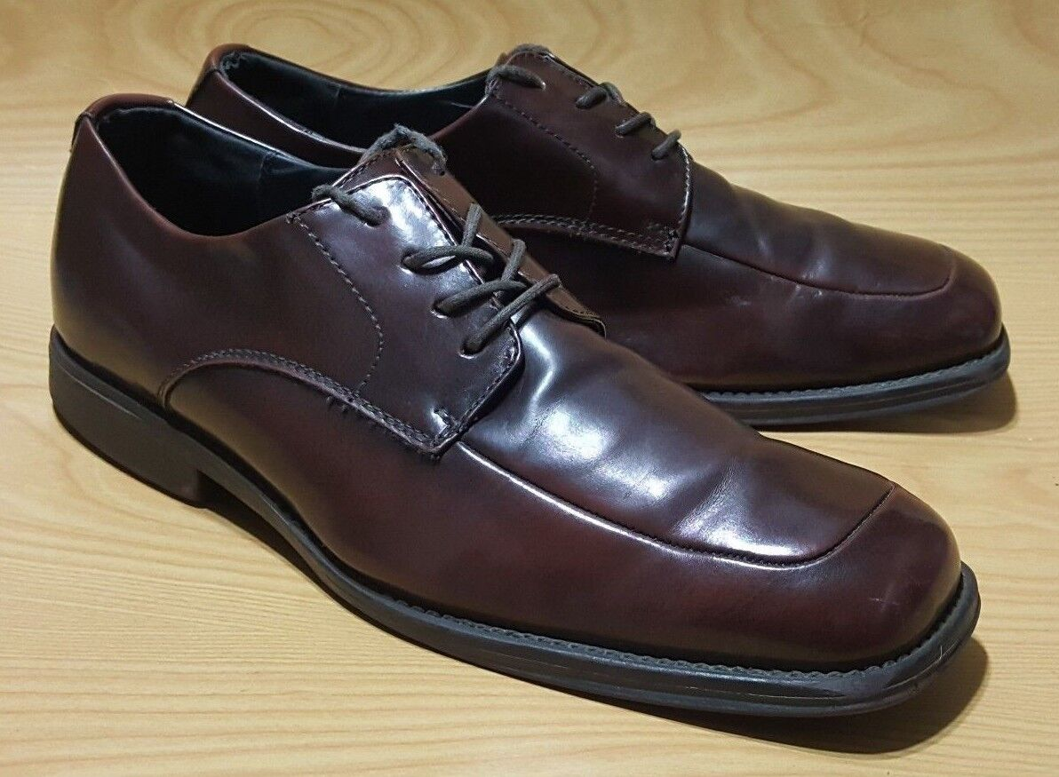 Kenneth Cole Reaction Brown Dress Oxfords Lace Up Mens Leather shoes 11.5 M