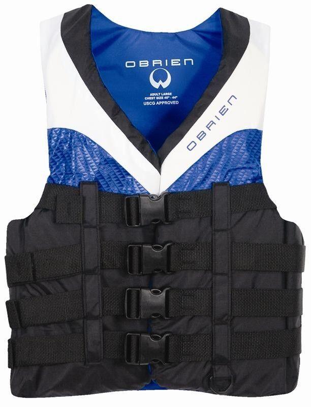 O'Brien 4 Fibbia pro Nylon Sport Nautici Galleggiante GILET, Xs XXL Blu. 64233