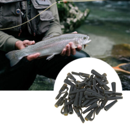 20X Safety Lead Clips Carp With Pins Tail Rubber Tubes Fishing Outdoor Tackle w