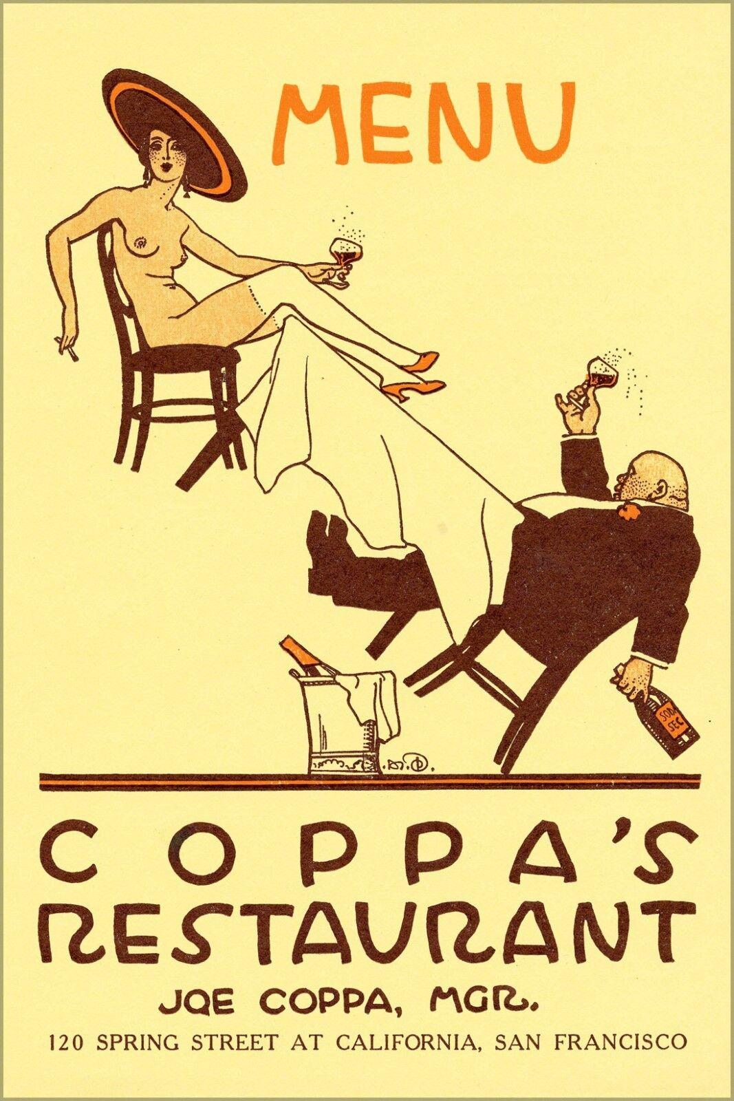 Poster, Molte Misure ; un Coppa 'S Ristorante, San Francisco (12001587454)