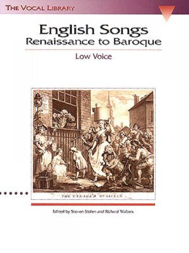 Renaissance to Baroque The Vocal Library Low Voice NEW 000740019 English Songs