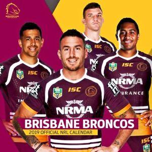 Image is loading 2019-NRL-Brisbane-Broncos-Official-2019-Wall-Calendar- c6eb212ac