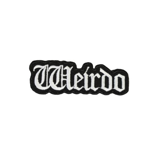 Weirdo Iron On Patch Funny Gothic Goth Biker The Craft Gift Clothing Transfer Ap
