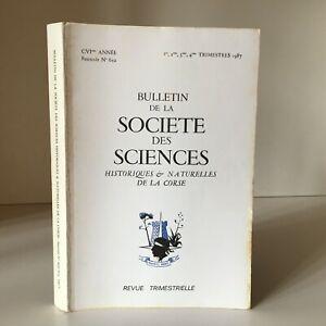 Boletín de La Société Las Ciencias Históricos Y Naturales Corse N º 652 1987