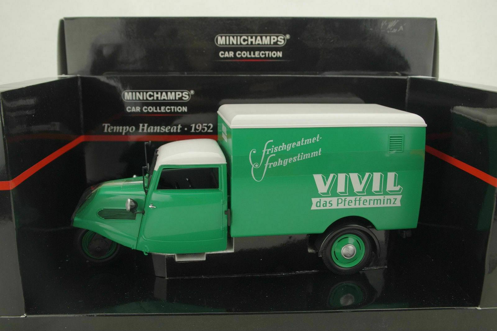 1 18 Minichamps - Tempo Hanseat Furgone   Vivil   verde - Rarità Nuovo   Conf.