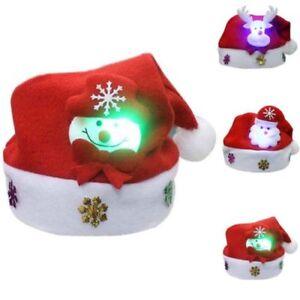 Led Weihnachten Santa Claus Cap Hut Party Headgear Kostum Geschenk