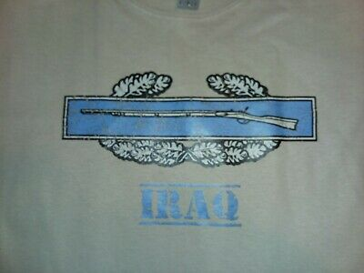 COMBAT INFANTRY BADGE IRAQ T-SHIRT// MILITARY// ARMY T-SHIRT// VETERAN// THICK// NEW