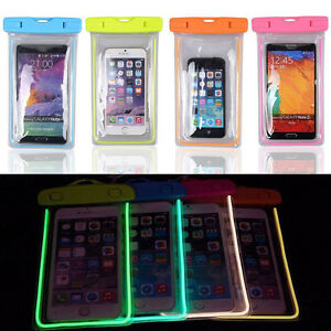 Luminous-Glow-Waterproof-Underwater-Pouch-Bag-Pack-Dry-Case-Cover-For-Phone-DSUK