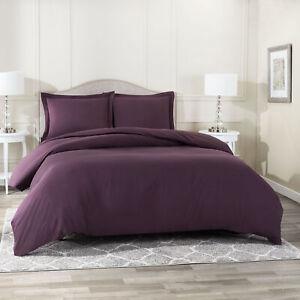 Duvet-Cover-Set-Soft-Brushed-Comforter-Cover-W-Pillow-Sham-Eggplant-Full
